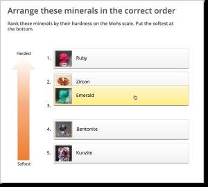 Rank minerals