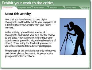 Group critique activity