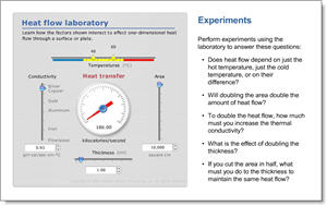 Heat flow laboratory simulation