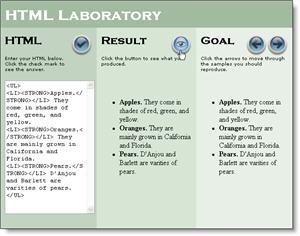 HTML code laboratory