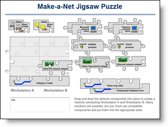 Jigsaw puzzle activity